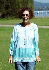 NWT PLUS SIZE Green Border Print Tunic Top Sizes 10-12-14-16-18
