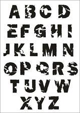 Wandschablone Maler T-shirt Schablone W-637 Schrift Zerstört ~ UMR Design