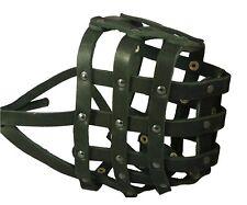 "Genuine Leather Basket Dog Muzzle 18""- 4.7"" snout Saint Bernard Newfoundland"