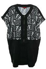 X Two Bluse Shirt Cafell Damen Lagenlook Plusgröße Kurzarm