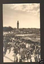 MARRAKECH (MAROC) Marché & MOSQUEE en 1953