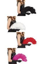 Federfächer schwarz weiß rot pink Marabou Fächer Burlesque Can Can Karneval