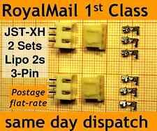 2x JST-XH connector plug (Male, Female, Crimps) for Lipo 2s Balance Extension