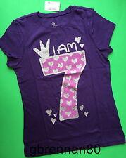 NEW 7th BIRTHDAY 7 Years Girls Happy PRINCESS Shirts 8 M 10