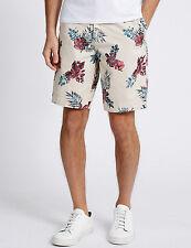Ex  M&S NORTH COAST Pure Cotton Floral Chino Shorts