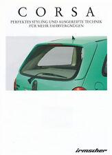 Irmscher Corsa Zubehör Autoprospekt 6/97 Prospekt 1 Bl brochure 1997 Auto PKWs