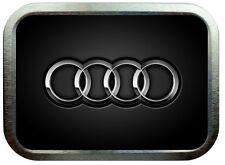 Audi Car  2oz Silver Tobbaco Tin , Stash Can , Storage Tin