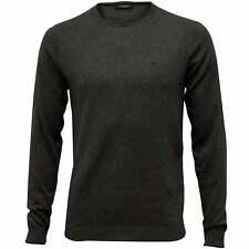 Calvin Klein Saul Crew-Neck Ribbed Knit Men's Sweater, Dark Grey Melange