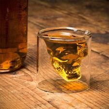 Verre a Shot Shooter Tete de Mort Crane de Cristal Vodka Whisky - Neuf