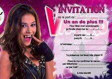 5 ou 12 cartes invitation anniversaire chica vampiro REF 323