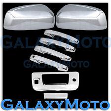 07-12 GMC Sierra Chrome Top Mirror+4 Door Handle+Tailgate w/KEYHOLE+Camera Cover