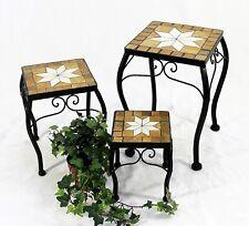flores taburete Merano Mosaico 12015 FLORERO 21-38cm anguloso Mesa auxiliar