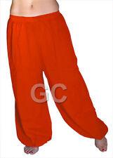 Orange Cotton Harem Yoga Pants Belly Dance Trousers Aladdin Students Pantalons