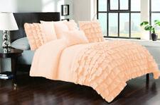 1 Piece Half Ruffle UK Double Size Duvet Cover 800 TC 100% Egyptian Cotton