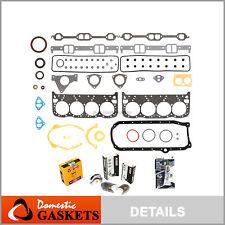 Fit 93-97 Chevrolet Cadillac Pontiac 5.7L OHV Full Gasket Bearing&Ring Set VIN P