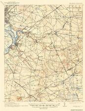 Topographical Map - Bordentown New Jersey, Pennsylvania Quad 1906 - 17 x 22.31
