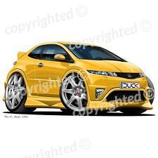 Honda Civic Type R 2007+ - Vinyl Wall Art Sticker - Yellow