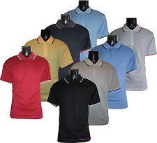 Men's New Polo T-Shirts Loose Fit PK Polo Plain Poly Cotton Size (M to 2XL)