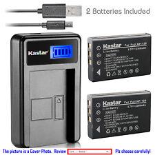 Kastar Battery LCD USB Charger for TOSHIBA NP-120 PX1657 & FUJIFILM NP-120 NP120