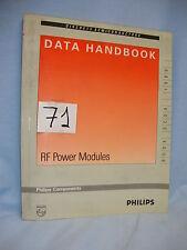 LIBRO - BOOK. DATA HANDBOOK. RF POWER MODULES. BOOK SC 09 1989.  COD$*71