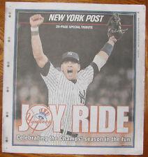 Yankees World Series #27 NY Post Special 11/8/09 RARE