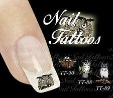 Nail Art Eule Uhu Vogel Baum Buch Tiere Tattoo 10,20,30 St. Motiv wählen TT-58