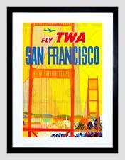 Travel san francisco california golden gate bridge encadrée art imprimé B12X12372