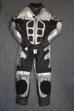 Bebé Motociclista Velocidad Demonio Niños Motocicleta Minimoto mitad Cuero Carrera Traje Plateado T