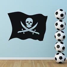 Bandera de Pirata Jolly Roger Pared Arte Pegatina (AS10019)