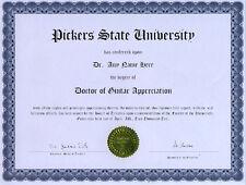 Doctor Guitar Appreciation Novelty Diploma Accoustic Picker