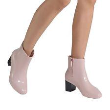 Women Rain Boots Nude Pink Glossy Boots Melissa Femme High Heel Rubber Boots NEW