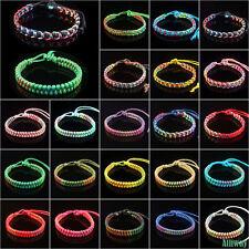 Ethnic Style Adjustable Handmade Knitted Handmade Bracelet Multi Color