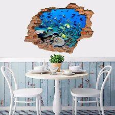 3D PESCE CORALLO 937 Muro Murales Adesivi Decalcomania svolta AJ Carta da parati UK lemom