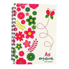 A5 Wirebound Notebook - Spring Garden Design - 240 Pages