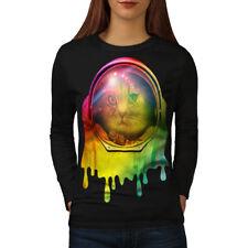 Astronaut Space Color Cat Women Long Sleeve T-shirt NEW | Wellcoda
