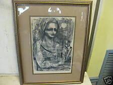 Vintage Lithograph Robert Cariola Rare Old Artwork