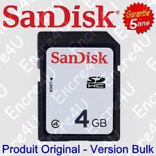Carte Mémoire SANDISK 4 Go Gb SDHC - Existe aussi en version 8 16 32 ou 64 Giga