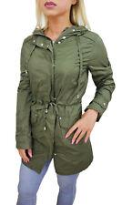 Diamond veste femme vert casual imperméable manteau trench parka de S en XXL