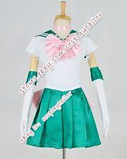Sailor Moon Serena Lita Kino Jupiter Green Party Dress Cosplay Costume Halloween