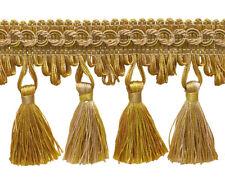 "Antique gold 2 3/4"" Tassel Fringe Color: RUSTIC GOLD 4975  - Sold by The Yard"