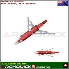 100 Grain Arrowhead Tip Point Telflon Surface Treatment Broadhead Arrow Bow oS