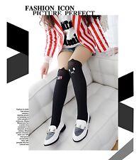 Fashion Girl Kid Cartoon Velvet Pantyhose Stitching Stocking Black 5-12 Year Old