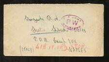 ITALIA WW2 COPERCHIO PER POW CAMP NAPOLI SGT sealia SILVESTRO