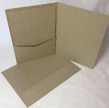 Pocket Invitation Cards KRAFT BROWN (20) 120x170mm -  Insert Cards -  Envelopes