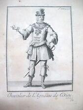 RELIGION CHEVALIER DE L'AGNEAU DE DIEU GRAVURE 1838