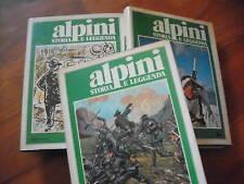 ALPINI STORIA E LEGGENDA tre volumi - 1981 Rizzoli
