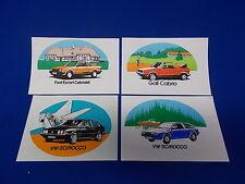 672) Aufkleber Sticker Karmann Ford Escort VW Golf Cabriolet Cabrio Scirocco
