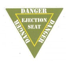"Sticker DANGER "" Ejection Seat  """