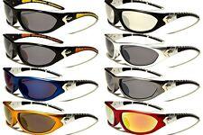 New X-Loop Sports 100% UV400 Sunglasses Baseball Bike Fishing Wraps Around XL157