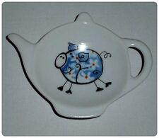 BN Funky Pig Tea Bag Tidy,Tea Bag Rest, Porcelain Ceramic Tea Bag Holder